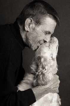 It's Leonard Nimoy with a puppy !!! <3