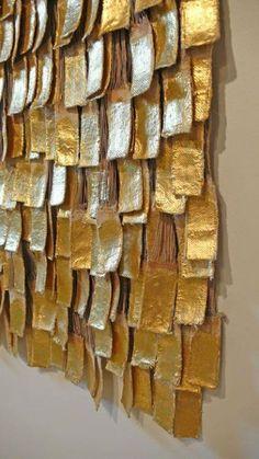 Three-Dimensional Olga De Amaral Architectural Tapestry at - abstrakt - New Craft Posca Art, Fabric Manipulation, Textile Artists, Fabric Art, Hanging Fabric, Land Art, Installation Art, Textures Patterns, Three Dimensional
