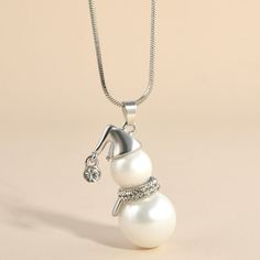 Find More Pendant Necklaces Information about Yanqueens White Pearl Snowman Charms Pendant Necklace Women Fashion Jewelry Sweater Chain Necklaces & Pendants Free shipping,High Quality jewelry pendant mounts,China jewelry pendant necklace Suppliers, Cheap jewelry pendant trays from sanhe 888 Store on Aliexpress.com