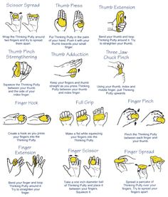 Hand exercises for putty to strengthen my shooting hand. - C Programming - Ideas of C Programming - Hand exercises for putty to strengthen my shooting hand. Theraputty Exercises, Carpal Tunnel Exercises, Upper Back Strengthening Exercises, Hand Exercises For Arthritis, Anti Stress Ball, Finger Gym, Band Workout, Workout Board, Workout Belt