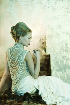 dressed in pearls
