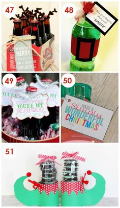No Bake Christmas Neighbor Gifts almost alllll of these would work as teacher Christmas gifts!