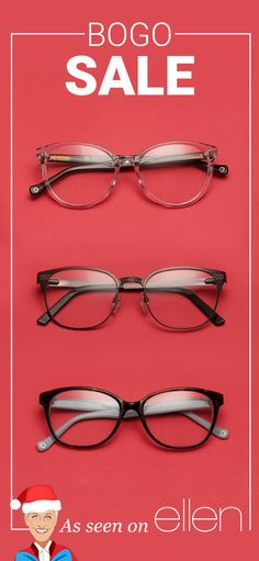 d5b002dcef3 BOGO Sale - As seen on The Ellen DeGeneres Show - Buy One Get One Free Sale  on all frames + free shipping. Shop now!