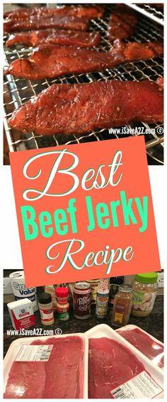 Best Beef Jerky Recipes Source by Best Beef Jerky, Homemade Beef Jerky, Chicken Jerky Recipe, Beef Jerky Cure Recipe, Beef Jerky Marinade, Roast Brisket, Chicken Gravy, Beef Steak, Pork Roast
