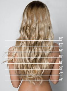 So.. Any ideas on how to get my hair to grow 14 inches quickly?! I miss having long hair, thanks awesome length chart