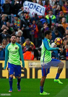 Fotografía de noticias : Leo Messi and Neymar Jr. during La Liga match...