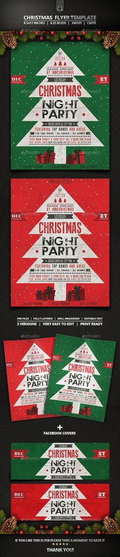 Christmas Flyer Template — Photoshop PSD #event #reindeer • Available here →…