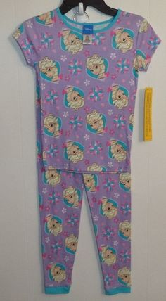 Purple Princess Elsa 2 Piece Girl s Pajama Set Size 8 FREE SHIP  Disney   PajamaSet 6d8aa374e