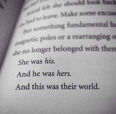 ... this was their world.