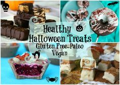 7 Healthy Halloween Treats - Caramel Pumpkin Chocolate Bars & More! #Paleo #Vegan #GlutenFree