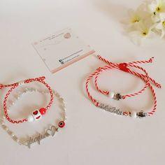 """Μαρτακια σετ για μαμά +παιδάκι 🌹💕 . #handmade #fashionaccessories #bracelets #momandbaby…"""" Sophie's World, Two Hearts, Beaded Bracelets, Rose, Handmade, Jewelry, Pink, Hand Made, Jewlery"""