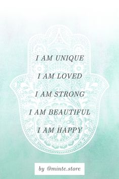 Positive affirmation | Happiness mantra | Embrace your uniqueness