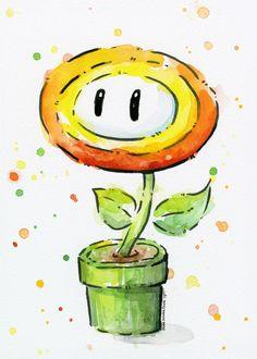 BUY: http://society6.com/product/fireflower-watercolor_print?curator=4thecrime Fireflower Watercolor Art Print