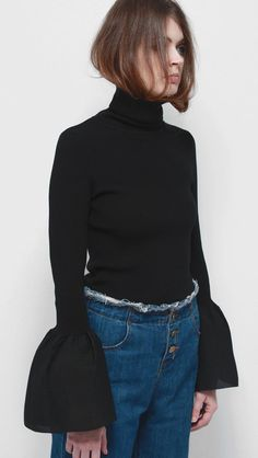 SHOP: Etre bell sleeve turtleneck, Loéil; $128 @stylecaster