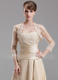 [NZ$ 77.00] 3/4-Length Sleeve Tulle Special Occasion Wrap (013004179)