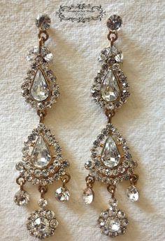 Sarah Chandelier Earrings Wedding Jewelry by DreamcatcherStudio, $38.00