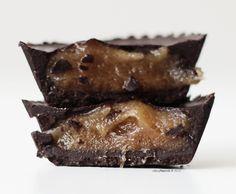 Raw and vegan salted caramel chocolates