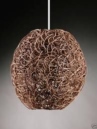 large brown rattan light shade - Google Search