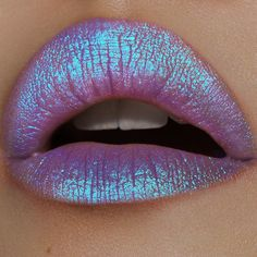 Lime Crime Diamond Crushers Iridescent Liquid Lip Topper, Trip - Light Purple - Strawberry Scent - Enhances Mattes - For Face And Body - Wear Alone Or Over Lipstick - Vegan Metallic Matte Lipstick, Glitter Lipstick, Lipstick Art, Lipgloss, Liquid Lipstick, Matte Lipsticks, Iridescent Lipstick, Lipstick Queen, Glitter Pigment