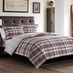 Poppy & Fritz Darcy Comforter & Duvet Set @poppyandfritz #plaid #BeddingStyle