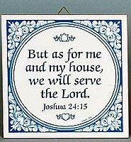 Decorative Wall Plaque: Joshua 24:15