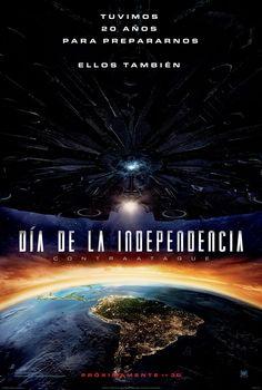 """TWENTIETH CENTURY FOX nos presenta una película que en 1996 fue todo un éxito, donde los extraterrestres atacan la tierra en el: """"Día de la independencia, contraataque""""."""