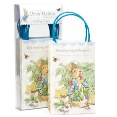 Classic illustrations from the brush of Beatrix Potter feature on these Easter party bags as well as quotes from her timeless stories.  Pack contains 8 party bags. Bag size: 2 x 5 x 6 inches.