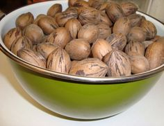 pecans-- We have a double trouble tree in our front yard.. got loads of Pecans this year..enough for plenty of pies and goodies!