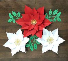 Christmas Poinsettia Flower Set Set of 3 christmas image 0 #christmas #poinsettiaflowers #christmasdecor #christmasdecorations #poinsettiadecor