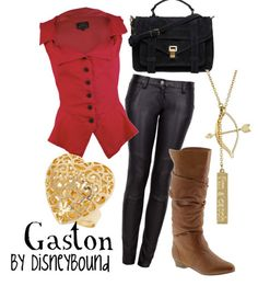Disney inspired outfit - Gaston (like the outfit, not the character lol) Cosplay Informal, Disney Inspired Fashion, Disney Fashion, Nerd Fashion, Fandom Fashion, Estilo Disney, Disney Bound Outfits, Disneyland Outfits, Character Inspired Outfits