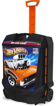 Hot wheels Case Car 100 Storage Carrying Rolling Handle Bag Toy Kids Play  #TaraToys