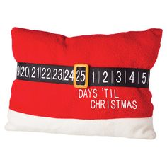 Tighten Santa's belt and count down the days with this charming toss pillow, perfect for bringing a touch of seasonal appeal to your sofa or loveseat.