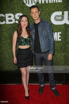 Actress Zoe Lister-Jones and Colin Hanks arrive at the CBS, CW, Showtime Summer…