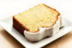 Νηστίσιμο κέικ λεμονιού με γλάσο. Νηστίσιμο κέικ λεμονιού με γλάσο