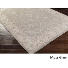 Meticulously Woven Rug (3'9 x 5'2) (Moss Grey), Blue, Size 3' x 5' (Plastic, Border)