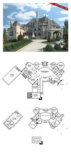 COOL House Plan ID: chp-25106 | Total Living Area: 7394 sq. ft., 6 bedrooms and 5 bathrooms. #houseplan #inlawsuite