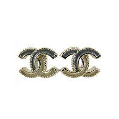 Chanel Two Tone Classic CC Earrings Ear Studs