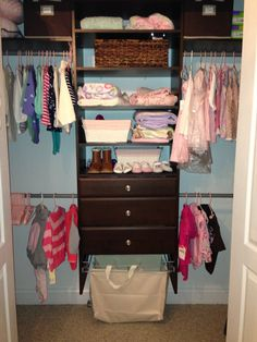 Baby Jax New Martha Stewart Closet System. Paint Is Benjamin Moore Custom  Matched From Tiffany And Co Bag. Closet Is 10 Feet High So Triple Hanginu2026