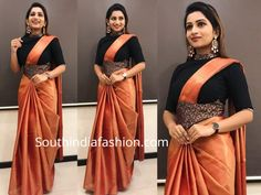 Saree Draping Styles, Saree Styles, Drape Sarees, Indian Bride Dresses, Indian Wedding Outfits, Indian Designer Suits, Indian Fashion Designers, Saree With Belt, Kalamkari Dresses