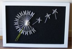 Dandelion string art - pattern from String art fun