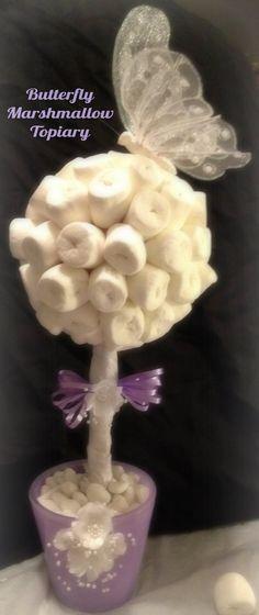 Marshmallow Topiary Centerpiece Butterfly Theme. $24.99, via Etsy.