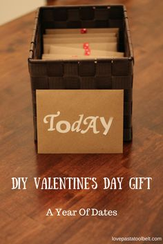 DIY Valentine's Day Gift: A Year of Dates is the perfect gift for your significant other | Love | DIY | Valentines | Valentines Gift | DIY Gift | Gift Ideas | Romance |