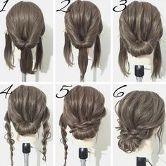 updo for medium length hair for work