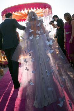 Butterfly wedding veil.