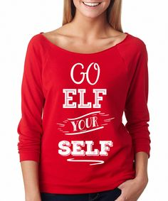 Look at this SignatureTshirts Red 'Go Elf Yourself' Raglan Tee on today! Elf Yourself, Tacky Christmas Sweater, Raglan Tee, Cotton Shorts, Toddler Girl, Graphic Sweatshirt, T Shirts For Women, Tees, Sweatshirts
