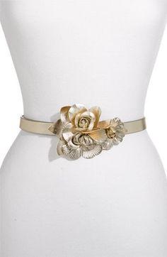 Gold Flower Belt by Avery