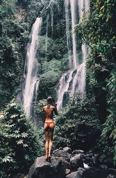 "Sekumpul Waterfall - Bali, Indonesia tinevcb ""This is one of the 7 sekumpul waterfalls in Bali, a less known And less touristic area in the north of the country ! Fun fact : they are actually property of the Lemukih village """