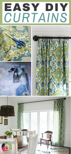 YES! This is an awesome post on how to make curtains the easy way!