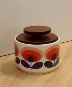 Orla Kiely Sugar Bowl | 70s Oval Flower from illustratedliving.co.uk