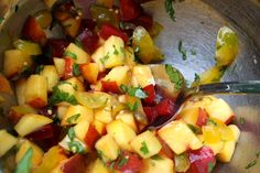 stone fruit salsa :)